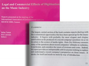 Dej featured in a Publication on Digitisation of the Music Business
